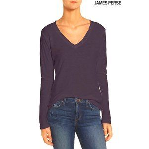JAMES PERSE USA Dark Plum Long Sleeve Shirt